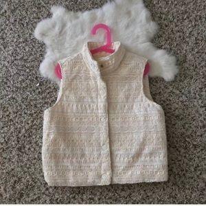 Xhilaration Girl Vest Crochet Snap Up Sz L (10-12)